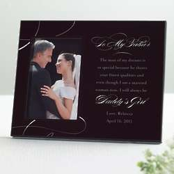 To My Father Wedding Photo Frame