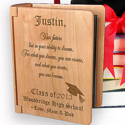 Personalized Congratulations Graduate Wooden Photo Album