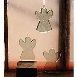 Recycled Glass Angel Suncatcher