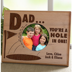Personalized Hole In One Golf Picture Frame