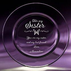 Sister Crystal Keepsake Plate