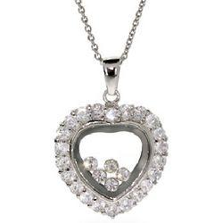 Happy Diamonds CZ Heart Pendant
