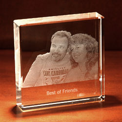 Custom Photo Crystal Paperweight