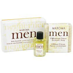 Men's Olibanum Aromatic Soap and Fragrance Oil Gift Set