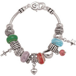 Love, Faith, Hope Charm Bracelet