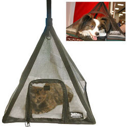 Black Pet Pyramid Tent