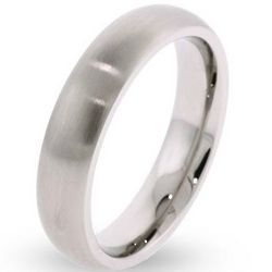 5mm Brushed Stainless Steel Wedding Band
