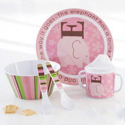 Lil Buddies Melamine Meal Time Gift Set