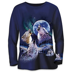 Women's Beauty of the Moonlit Wolf Shirt