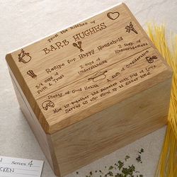 Recipe for a Happy Household Bamboo Recipe Box