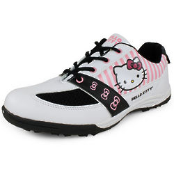Women's White and Black Hello Kitty Shoes