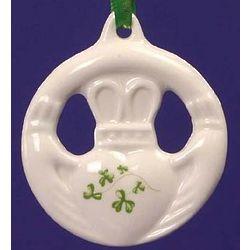 Claddagh Ring Trellis Shamrock Ornament