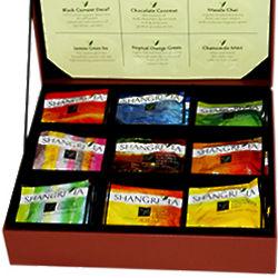 Shangri La Organic Tea Sachets in Leatherette Presentation Box
