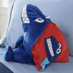 Peek-A-Boo Dinosaur Stuffed Animal Pillow