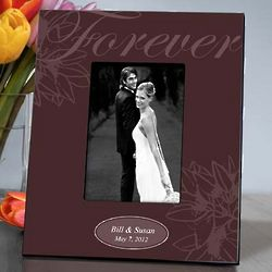 Personalized Ebony Forever Couple's Picture Frame