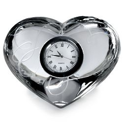 Love Story Crystal Clock