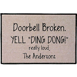 Personalized Yell Ding Dong Doormat