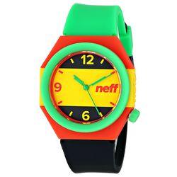 Green, Yellow, and Black Stripe Watch