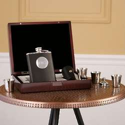 Engraveable Flask Gift Set in Valet Box