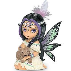 Spirit of Power Wildwood Fairy Figurine with Baby Bear