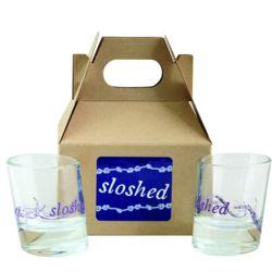 2 Sloshed Shot Glasses in Mini Gift Box