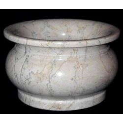 Beige Marble Indoor Planter
