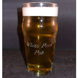 Personalized Engraved English Pub Glass