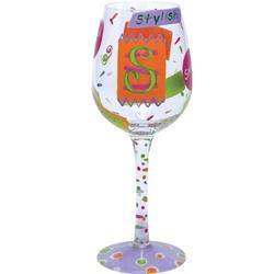 """""""S"""" Wine Glass"""