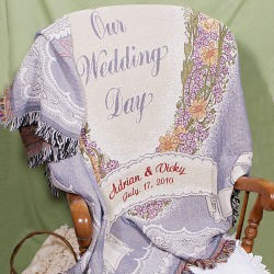 Embroidered Wedding Blanket