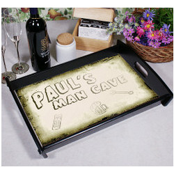 Personalized Man Cave Serving Tray