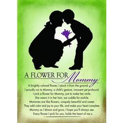A Flower for Mommy Plaque