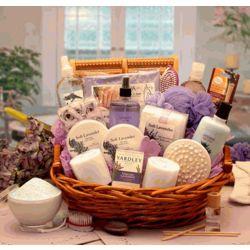 Essence of Lavender Spa Gift Basket