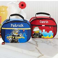 Personalized Lego Policeman or Fireman Lunch Bag