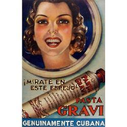 Vintage Cuban Pasta Gravi Ad Poster