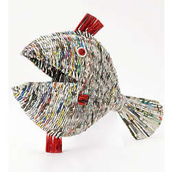 Funky Fred the Recycled Newspaper Fish