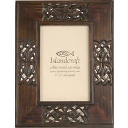 Celtic Knot Carved Wood Picture Frame