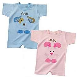 Personalized Bunny or Puppy T- Romper