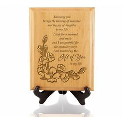 A Perfect Gift Wooden Plaque