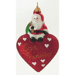 San Francisco Blown Glass Christmas Ornament