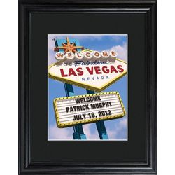 Personalized Las Vegas Framed Print