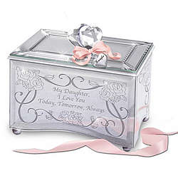 Personalized Today, Tomorrow, and Always Daughter Music Box