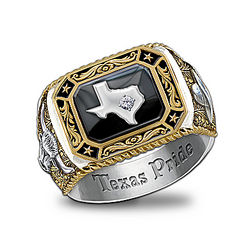 Men's Spirit of Texas Diamond Ring