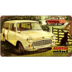 Austin Mini Countryman Metal Sign