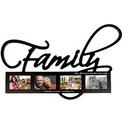 Family Word Frame Wall Hanging