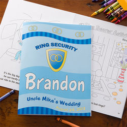 Personalized Ring Bearer Coloring Book
