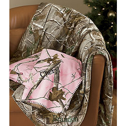 Realtree Camo Personalized Throw
