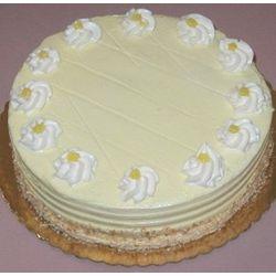 Lemon Cake with Vanilla Buttercream Rosettes