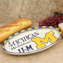 Michigan Wolverines Gameday Serving Platter