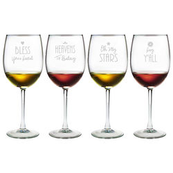 Southern Sayings Wine Glasses