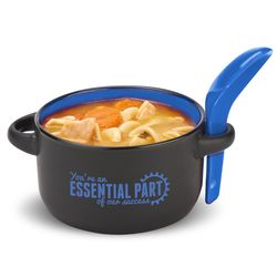 You're an Essential Part Soup Mug & Spoon